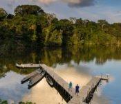 Selva Lodge Urwald Ecuador - Steg in die Lagune