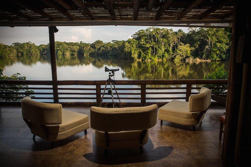 Selva Lodge Ecuador - Terasse