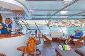 Galapagos Kreuzfahrt Yacht San José - Sonnendeck Bar