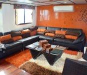 Lounge Anahi Galapagos Kreuzfahrt Katamaran