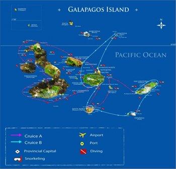 Galapagos Kreuzfahrt Routen A & B - Galapagos Kreuzfahrt Katamaran Archipell I