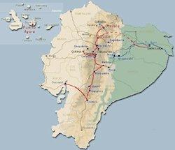 Reiseroute Rundreise Klassisches Ecuador