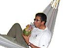 Ecuador Galapagos Reisen - Cocktail in der Hängematte