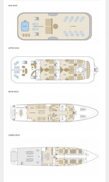 Deckplan Galapagos Kreuzfahrtyacht Galapagos Odyssey