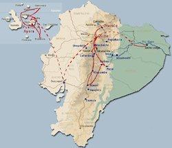 Reiseroute Kontrastreiches Ecuador Rundreise