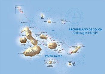 Galapagos Tauchkreuzfahrt Route - Galapagos Sky