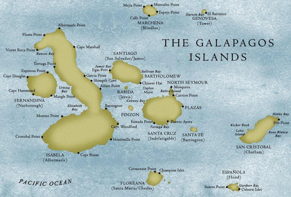 Karte Galapagos Inseln