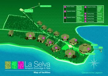 Lageplan Selva Lodge