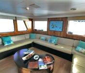 Galapagos Kreuzfahrt Yacht Tip Top III - Lounge