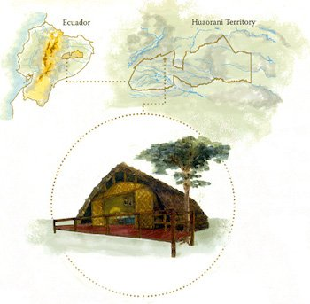 Map Huaorani Lodge