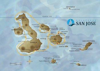 Kreuzfahrt Route A - Galapagos Kreuzfahrt Yacht San José