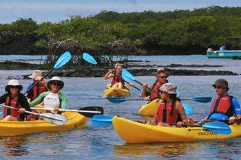 Kayakfahren auf Galapagos