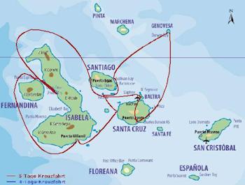 Galapagos Nordroute - Galapagos Kreuzfahrt Yacht Floreana