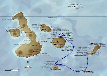 Galapagos Kreuzfahrt Route A - Galapagos Odyssey