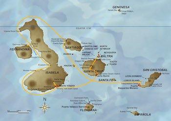 Galapagos Kreuzfahrt Route C - Galapagos Odyssey