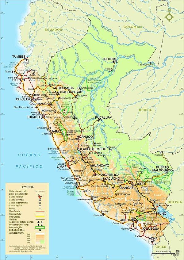 Lateinamerika Karte Gebirge.Peru Reisen Amazonas Expeditionen Amazonas Kreuzfahrten