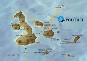 Galapagos Kreuzfahrt Route A - Yolita II