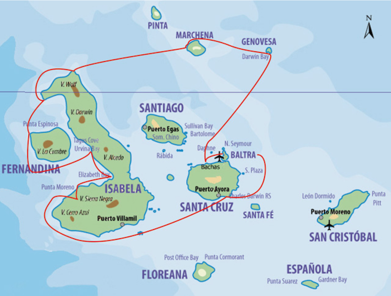 Galapagos Segelyacht Samba  Galapagos Kreuzfahrt Motorsegler