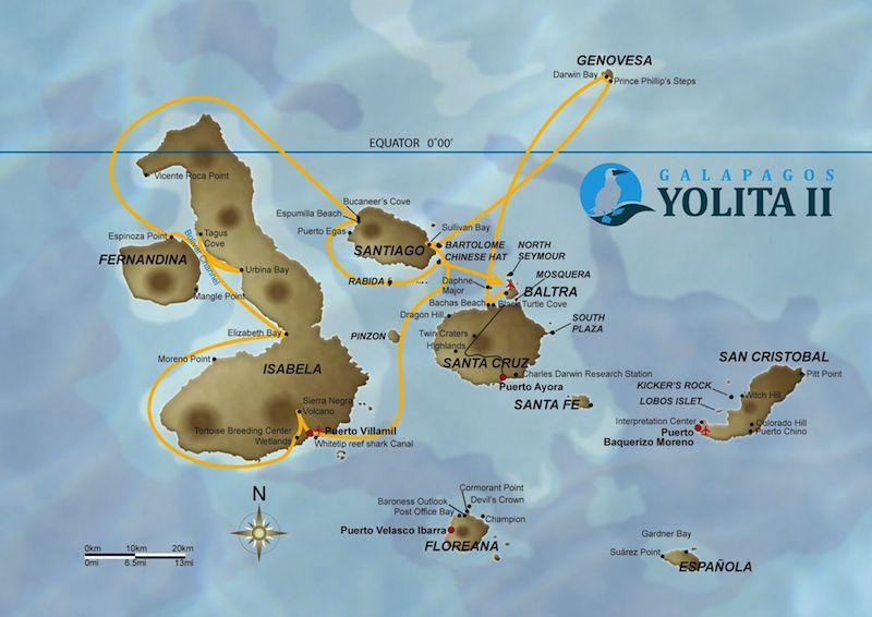 Galapagos Kreuzfahrt Yacht Yolita II  Galapagos Reisen