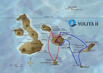 Galapagos Kreuzfahrt Route B - Yolita II