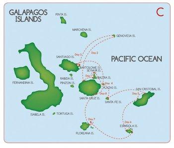 Galapagos Kreuzfahrt Route C - Fragata