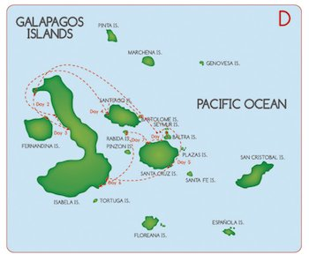 Galapagos Kreuzfahrt Route D - Fragata