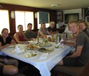 Galapagos Segelyacht Samba - Abendessen