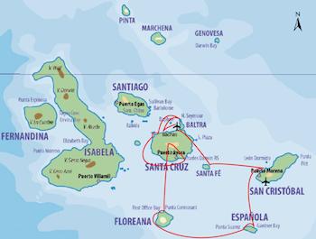 Glapagos Südroute - Galapagos Kreuzfahrt Yacht Floreana