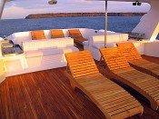 Galapagos Kreuzfahrtyacht Tip Top IV - Sonnendeck
