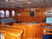 Galapagos Kreuzfahrtyacht Tip Top IV - Lounge