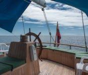 Galapagos Segelyacht Beagle - Deck
