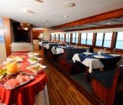 Tauchkreuzfahrt Yacht Galapagos Sky - Essraum