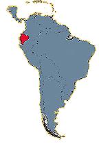 Ecuador Galapagos Reisen - Karte Südamerika