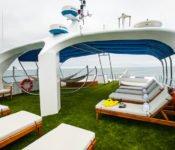Tauchkreuzfahrt Yacht Galapagos Sky - Sonnendeck