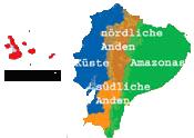 Ecuador Galapagos Reisen - Karte Ecuador