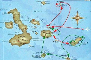Galapagos Kreuzfahrt Route C1 Seaman Journey