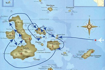 Galapagos Kreuzfahrtroute C Seaman Journey