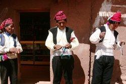 Bewohner von Taquile, Titicaca See
