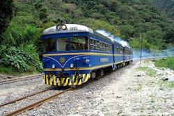 Zug Vistadome auf dem Weg nach Aguas Calientes