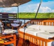 Amazonas Kreuzfahrt Peru - Cattleya Journey an Deck