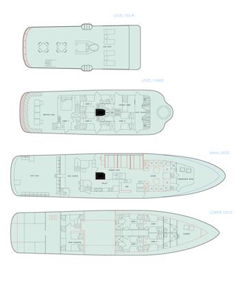 Deckplan Tauchkreuzfahrt Yacht Galapagos Aggressor III