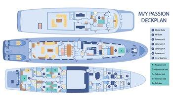 Deckplan Galapagos Kreuzfahrtyacht Passion