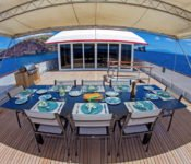 Galapagos Yacht Passion - Open Air Essbereich