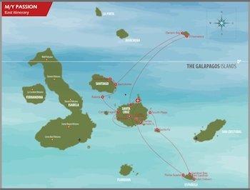 Galapagos Kreuzfahrt Route Passion