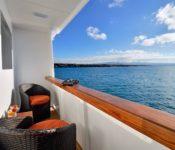 Galapagos Kreuzfahrt Katamaran Athala II - Balkon