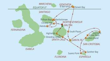 Ostroute Galapagos Kreuzfahrt Yacht Reina Silvia