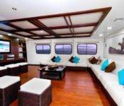 Galapagos Kreuzfahrt KatamaranCormorant - Lounge