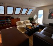 Galapagos Kreuzfahrt Katamaran Athala II - Lounge