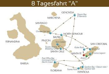 Kreuzfahrtroute A Majestic Galapagos Kreuzfahrt Yacht