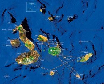 Kreuzfahrtroute Galapagos Katamaran Athala II
